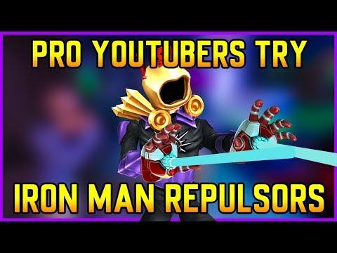 Pro Strucid YouTubers Try NEW Iron Man REPULSORS! (Roblox Fortnite)