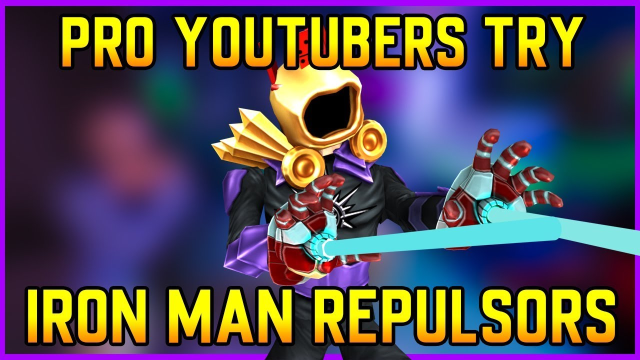 Pro Strucid YouTubers Try NEW Iron Man REPULSORS! (Roblox ...