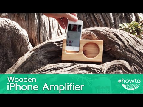 How to Make a Wooden iPhone Amplifier