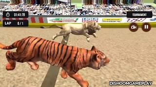 Wild Lion Racing Fever : Animal Race #6   Lion Hunt Horse - Dishoomgameplay