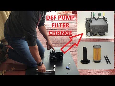 How To Change DEF ( Diesel Exhaust Fluid ) Pump Filter - YouTube