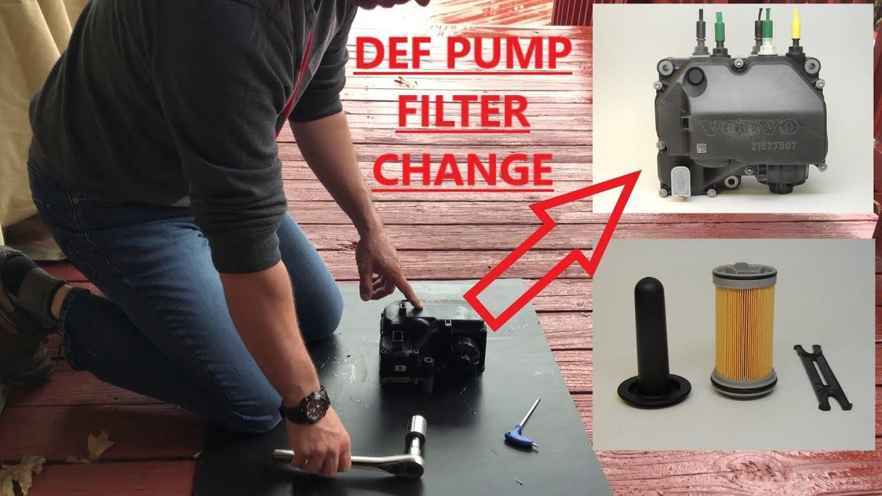 How To Change DEF ( Diesel Exhaust Fluid ) Pump Filter