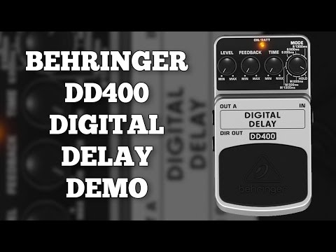 Behringer DD400 Digital Delay Demo (Including Mono, Stereo and Hold Functions.)