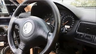 How to remove airbag VW Golf Mk4, Bora, Jetta, Passat, Polo, Skoda Octavia 1, Fabia