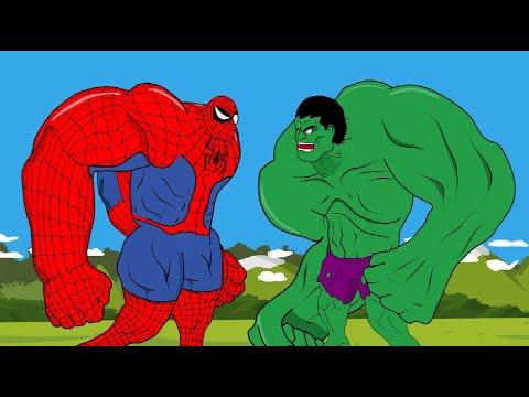 Download Spider Hulk Vs Giant Hulk And Wicked Witch - Godzilla Cartoon