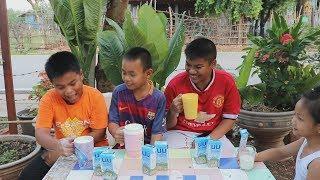 แข่งกินนม กินจุ นมโรงเรียน กินจุ | น้องใยไหม kids snook