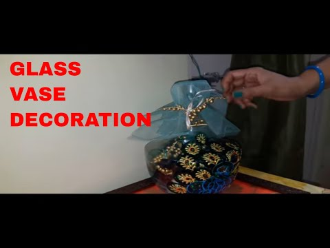 Glass Painting || Video on Glass Vase Painting and Decoration Idea