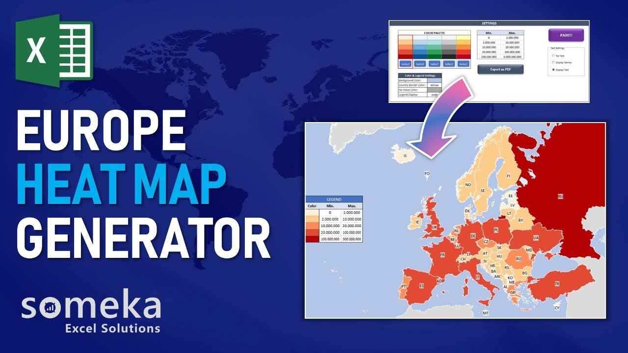 Europe Geographic Heat Map Excel Template on topographical heat map, medical heat map, human heat map, regulatory heat map, urban heat map, maps heat map, home heat map, financial heat map, temporal heat map, education heat map, distribution heat map, create a heat map, environmental heat map, people heat map, genetic heat map, statistical heat map, military heat map, climate heat map, demographic heat map, subject heat map,