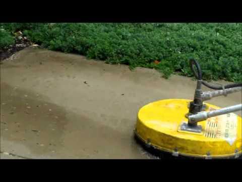 Concrete power scrubber youtube for Power washer concrete scrubber