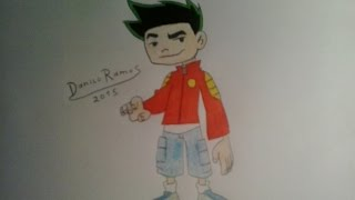 How to draw Jake Long