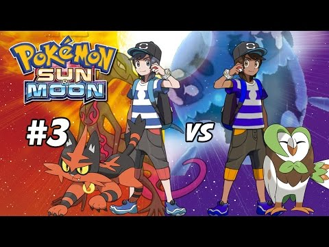 The Water and Fire Trials! Pokemon Sun and Moon Two Player Walkthrough #3