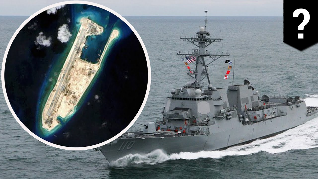 Image result for Beijing sends frigate & jets to warn off US destroyer near disputed South China Sea islands