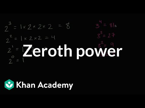 The zeroth power | Arithmetic operations | 6th grade | Khan Academy