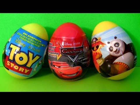 Thumbnail: 3 Surprise Eggs Disney Cars 2 Pixar Toy Story TOYS Kung Fu Panda Unboxing Sorpresa Huevos Toy Review