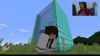 Jogando Minecraft: Casa de Gelo e Vidro parte 1 - Yasmin Verissimo (caiu uma tempestade na hora)