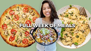 realistic full week of eating  before a vacation