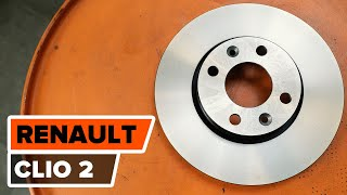 How to replace Accessory Kit, disc brake pads on RENAULT CLIO II (BB0/1/2_, CB0/1/2_) - video tutorial