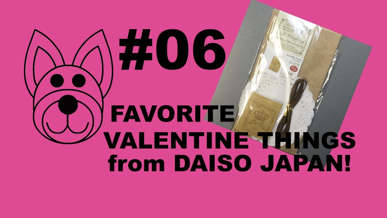 Gift Wrapping Bags Favorite Valentine S Items At Daiso Japan Youtube