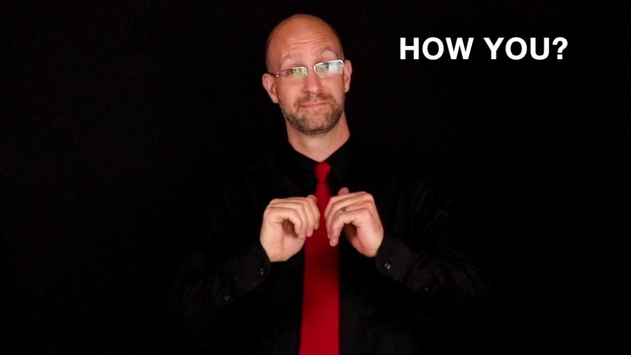 Greetings Responses Vocabulary Asl American Sign Language