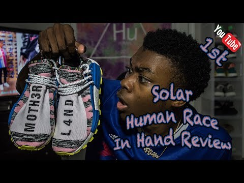 1st ON YOUTUBE| PHARRELL HU NMD SOLAR/AFRO PACK IN HAND REVI