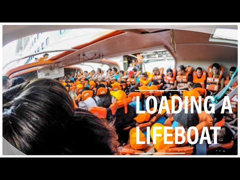 Loading 150 Persons in a Lifeboat on a Cruise Ship