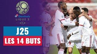 VIDEO: Domino's Ligue 2 (J25) : Les 14 buts de la soirée !