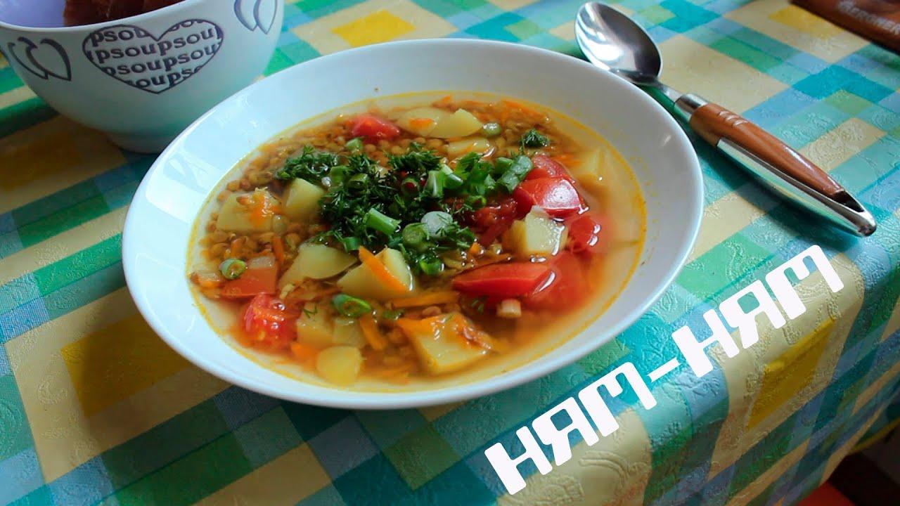 чечевичный суп с картошкой