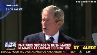 George W Bush Speech at the Dedication of his Presidential Center Thumbnail