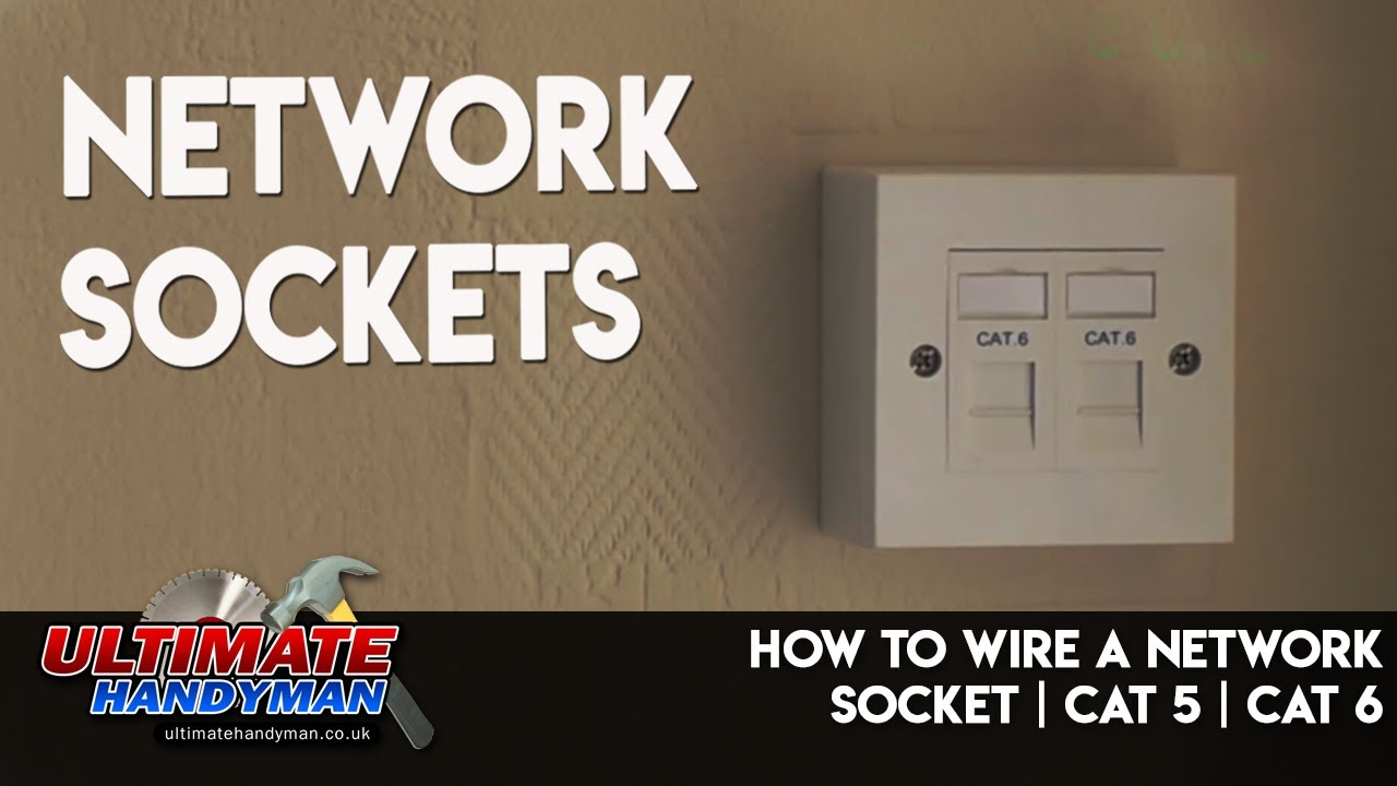 How To Wire A Network Socket Cat 5 6 Youtube Cable With Ethernet Cat5 Phone Wiring Diagram