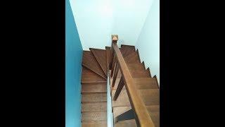 Отделка металлической лестницы деревом. Моменты монтажа и обзор