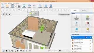 видео 3D дизайн проект интерьера спальной комнаты