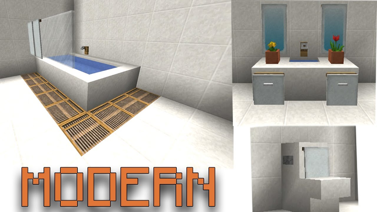MODERN BATHROOM! Minecraft Design! - YouTube