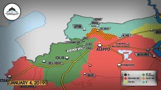 Обзор военных действий в Сирии. 7-е января 2019г.