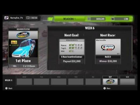 NASCAR Heat 2 career mode NXS hot seat part 1: DC Solar 200