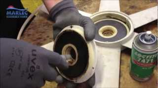 How To Disassemble A Rutland 503 / 504 Windcharger To Replace Bearings Or Turbine Blade
