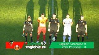 Bramki z meczu Zagłębie Sosnowiec - Znicz Pruszków (0:3)