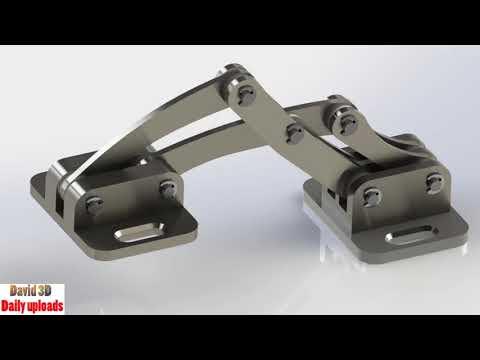 Stainless Steel Marine Hinge Mechanism || Download free 3D cad models #5055