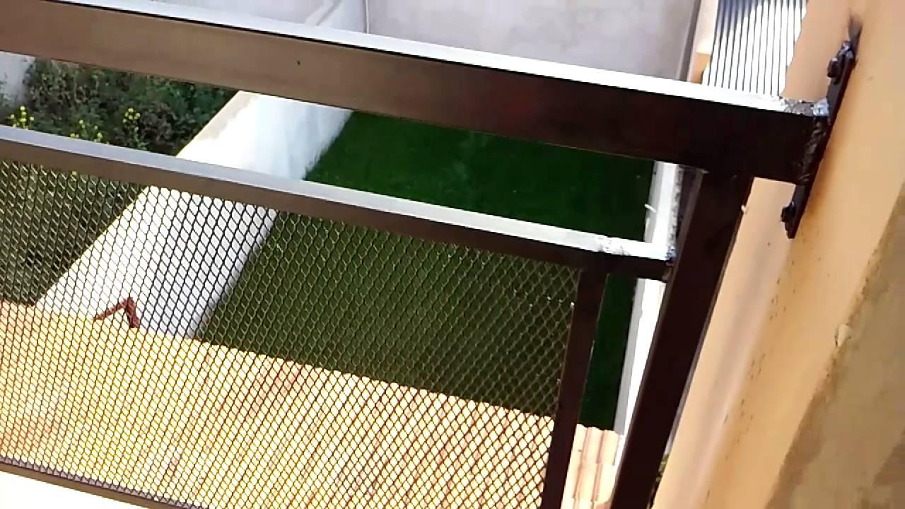 Barandas para balc n youtube for Precios de toldos para balcones
