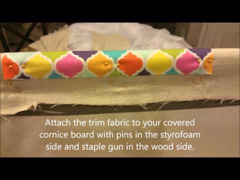 DIY Drop Cloth Window Cornices with Fabric Trim