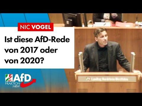 Ist diese Rede von 2017 oder 2020? – Nic Vogel (AfD)