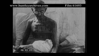 Mahatma Gandhi interviewed in the early 1930's.  Archive film 61693