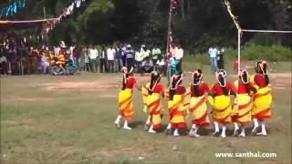 santhali ( santali ) dance performance song @ railgadi ( a m