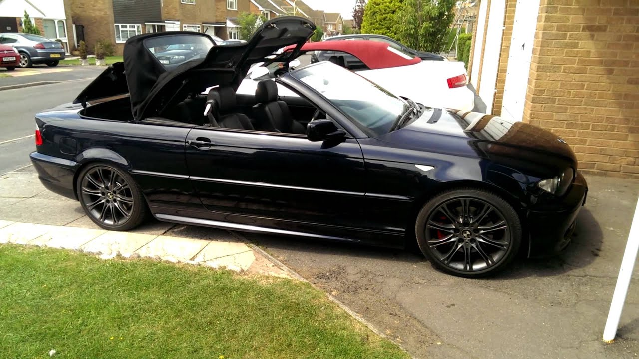 bmw e46 convertible cabriolet roof closing with one touch. Black Bedroom Furniture Sets. Home Design Ideas