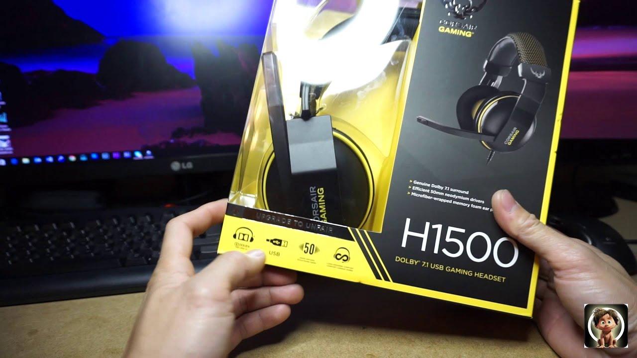 fb26bd01d1c Corsair Gaming H1500 Dolby® 7.1 Gaming Headset - YouTube