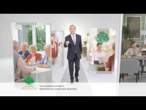 Vidéo Spot TV Les Jardins d'Arcadie avec Julien Lepers