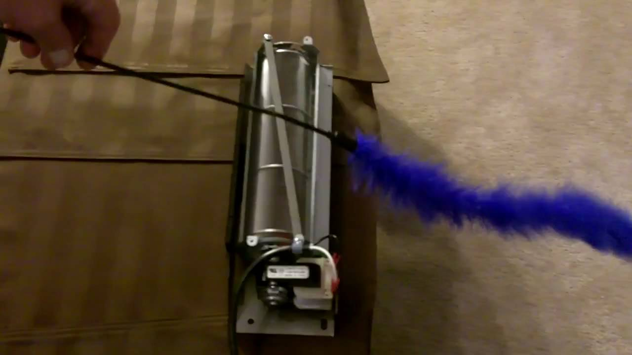 fireplace blower air flow demonstration youtube