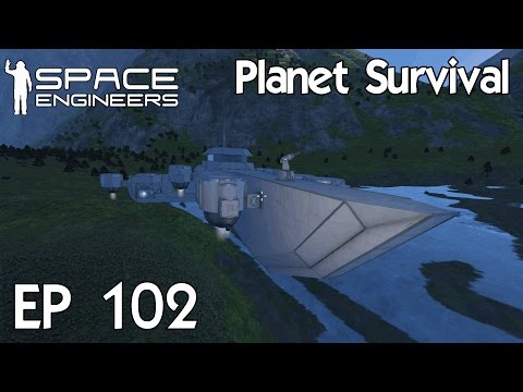 Space Engineers Planets - Ep 102 Hydrogen Propulsion