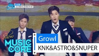 special stage knk snuper astro growl 스누퍼 아스트로 크나큰 으르렁 show music core 20160416