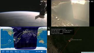 Sunset Over South America - NASA/ESA ISS LIVE Space Station With Map - 566 - 2019-03-16