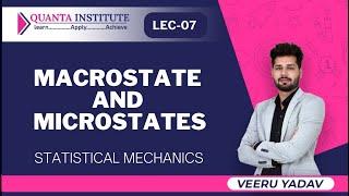 Macrostate And Microstates | Statistical Mechanics